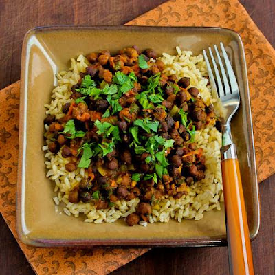 Slow-Cooker Vegan Black Garbanzo Bean Curry
