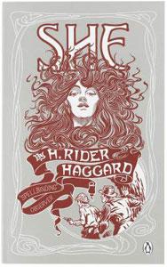 Portada británica de Ella, de H. Rider Haggard