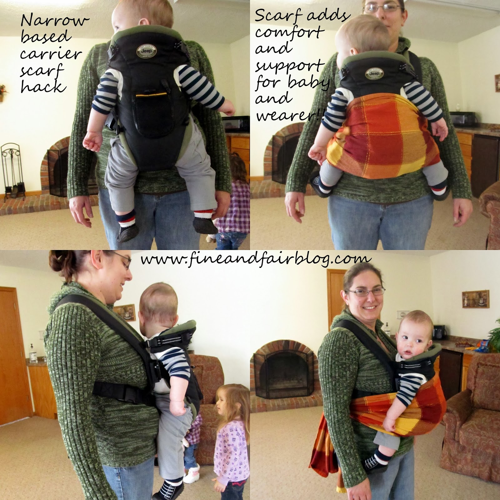 "Simply center the scarf towel or fabric at your baby s back and bum spread the botttom ""rail"" across your baby s bum from knee to knee spread it up to"