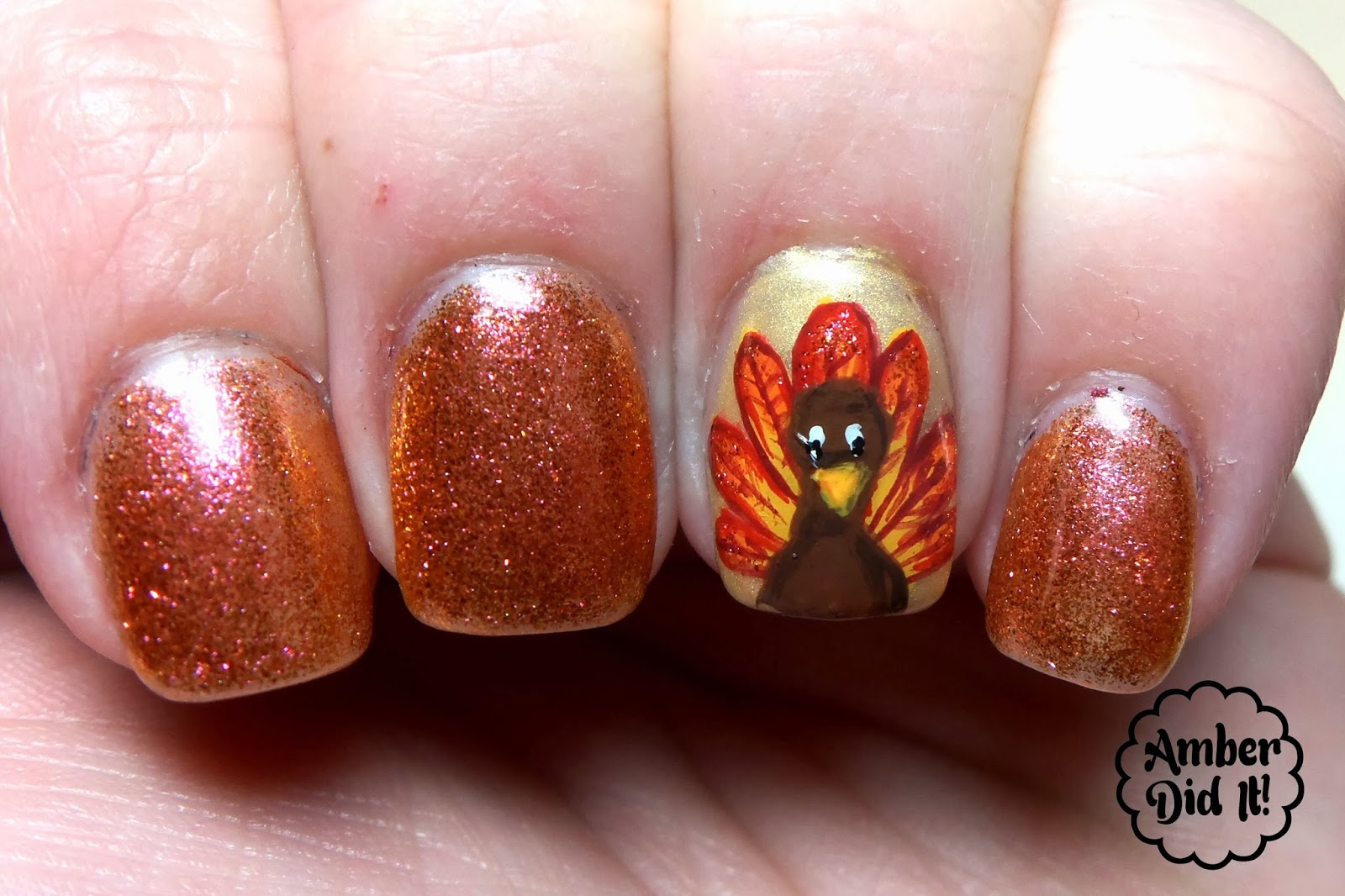 Acrylic nail designs for thanksgiving beautify themselves with acrylic nail designs for thanksgiving amber did it magnificent mani monday thanksgiving edition prinsesfo Image collections