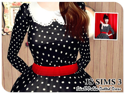 Small Polka-Dotted Dress by JS Sims 3 02