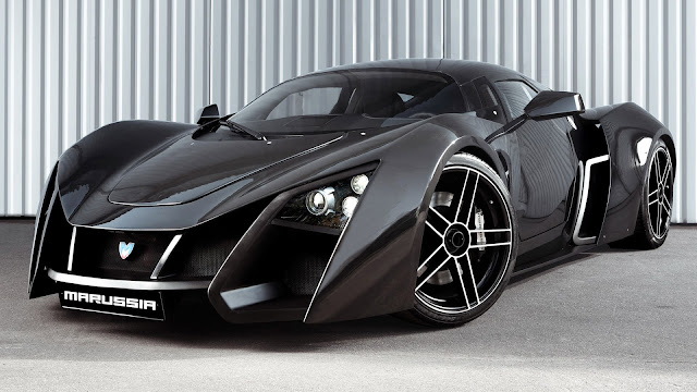 Marussia B2 black supercar HD Wallpaper