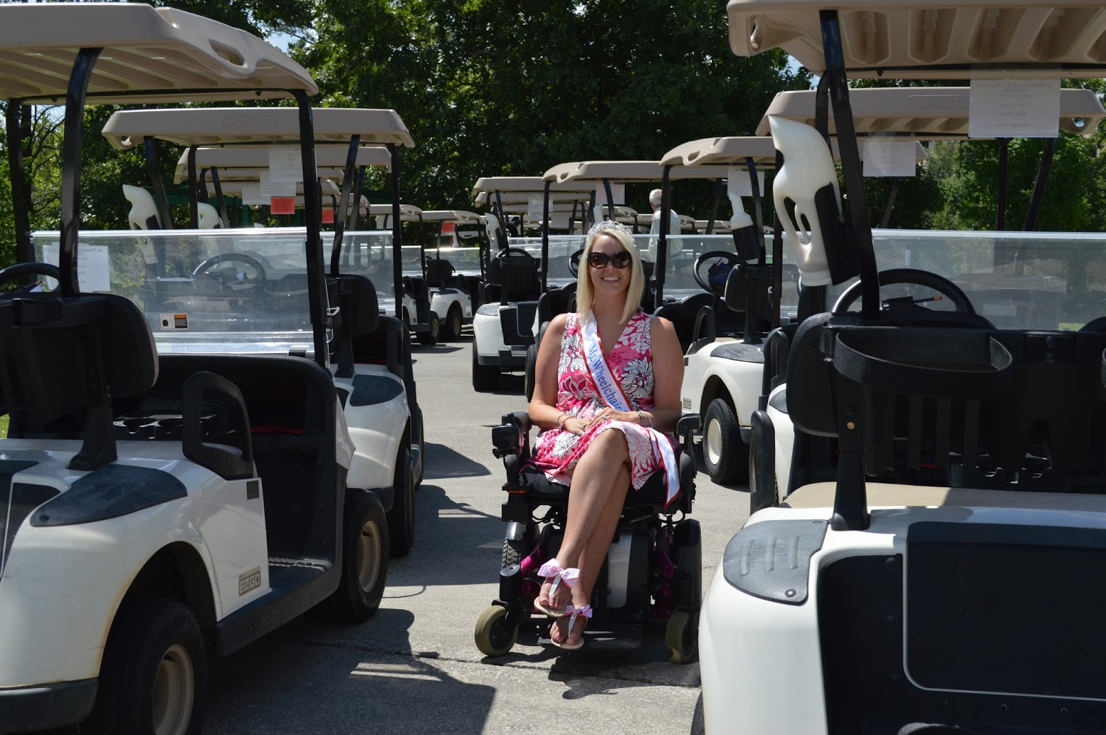 Ms Wheelchair Tennessee 2013 Bliss Welch: The Golf Tournament on golf cart wheel accessories, motor home wheel chair, golf cart wheel blue, scooter wheel chair,