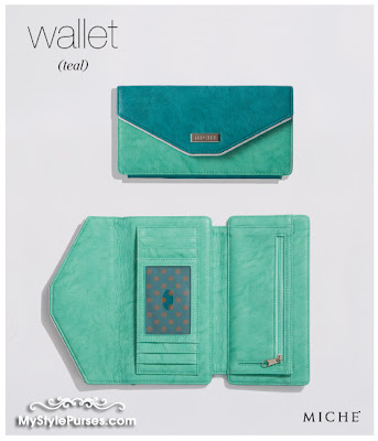 Miche Teal Wallet