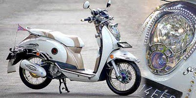 Modifikasi Head Lamp Honda Scoopy