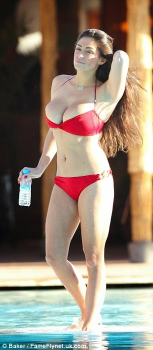 Casey Batchelor sexy bikini candids in Ibiza photo 5
