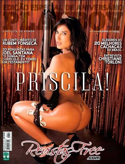 Priscila Pires nua na Playboy de agosto 2009