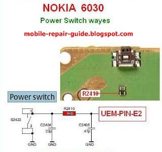 nokia 6030 power button