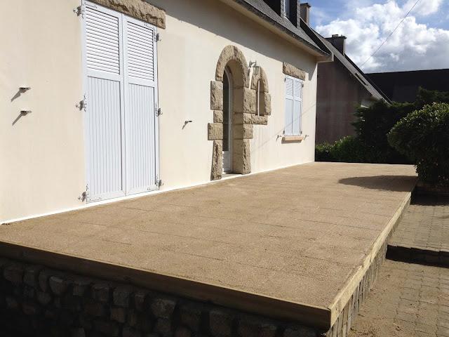 Terrasse dalle gravillonée Coat Maen - Folgoet