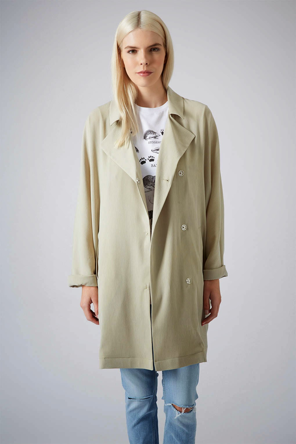 cream topshop coat