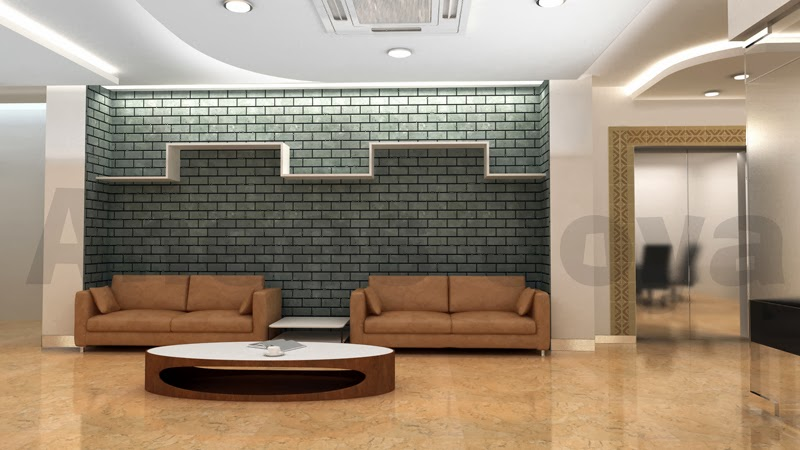 Anees joya works office interior design using 3d max for 3d max interior design