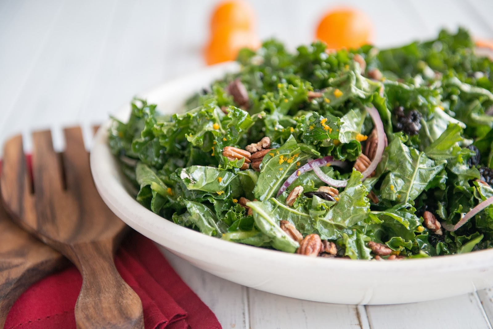 Nourishing Meals: Christmas Kale Salad