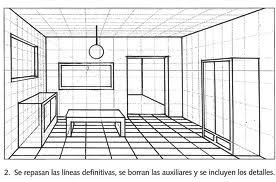 Pl stica febrero 2013 - Habitacion en perspectiva conica ...