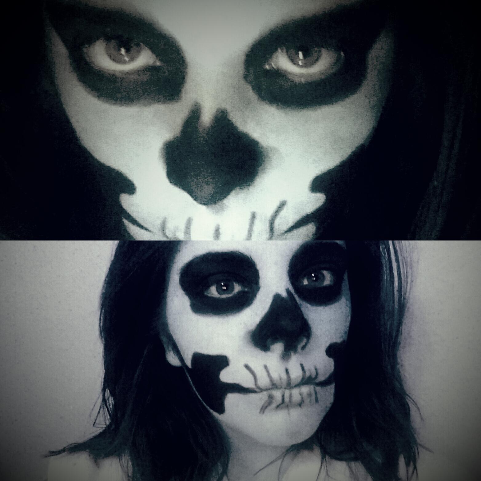 Easy-to-do Skeleton Halloween Makeup