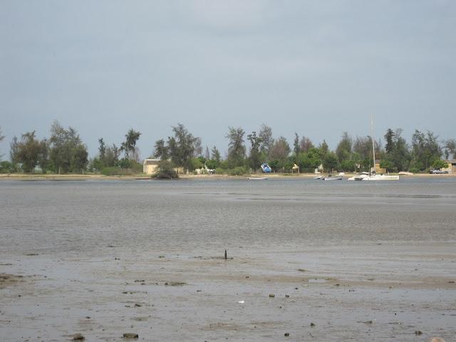 Planicie, en el Delta de Sinée Saloum, sobre la que se asienta Fadiouth (Senegal)