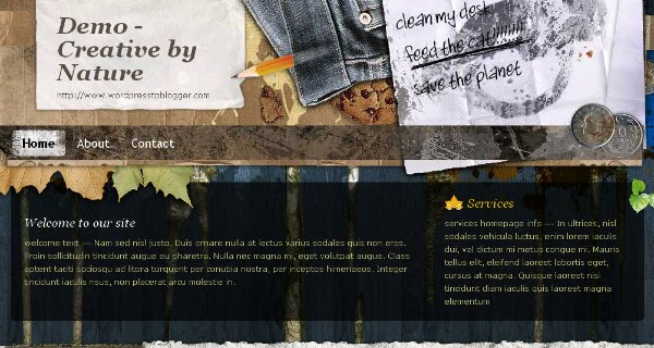 Creative Gallery Blogspot Theme