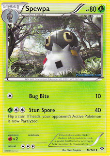 Spewpa Pokemon X and Y Card