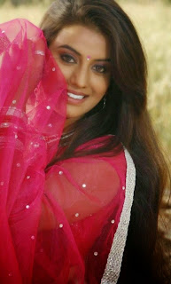 Juhi Looks Cute and Beautiful in Red Saree and Red Transparent Choli Spicy Pics