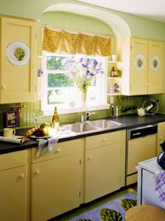 Yellow Kitchen Cabinet