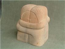 Escultura simil piedra el Beso de Brancusi