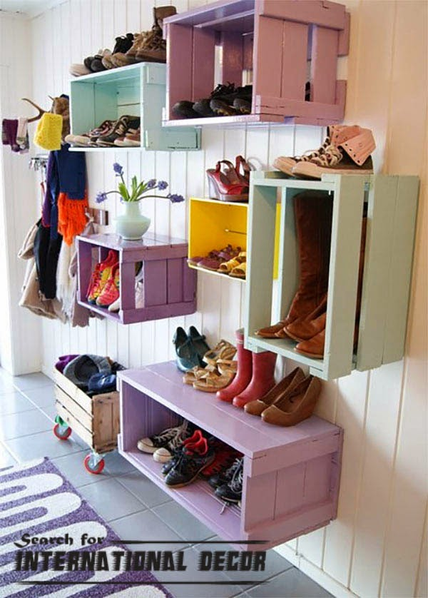 Creative recycle ideas, recycle ideas, recycle fruit boxes,wall shelves