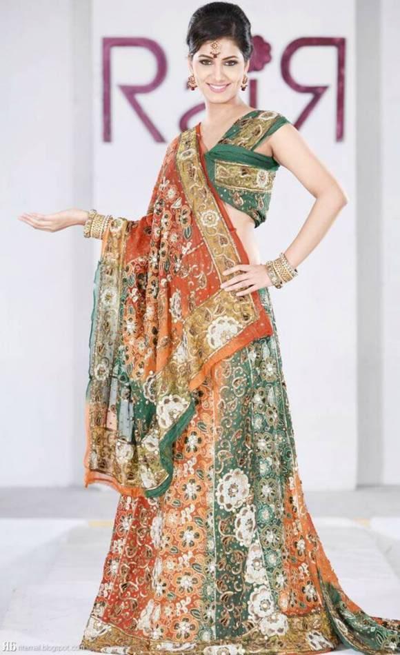 she fashion club indian models in designer lehenga
