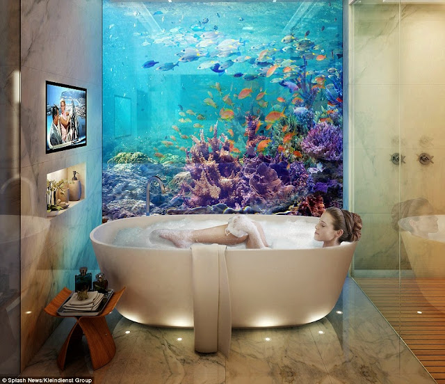 الحمام تحت الماء