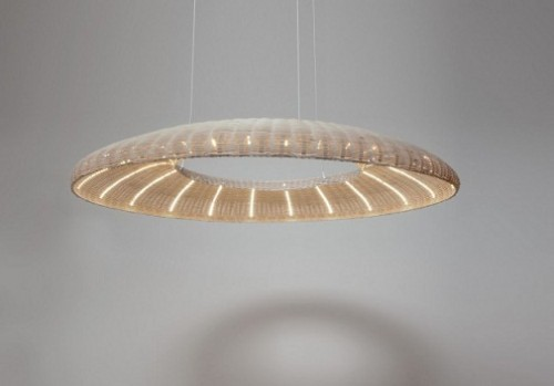 Cool Ceiling Lighting AURA Rattan Lamps with Efficient LED Light