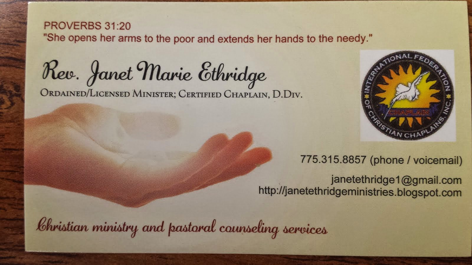 Ministry Card