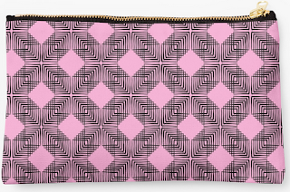 http://www.redbubble.com/people/louweasely/works/14119058-pink-and-black-box-pattern?p=pouch&ref=artist_shop_grid