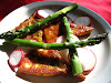 Fried Halloumi Saganaki and Asparagus