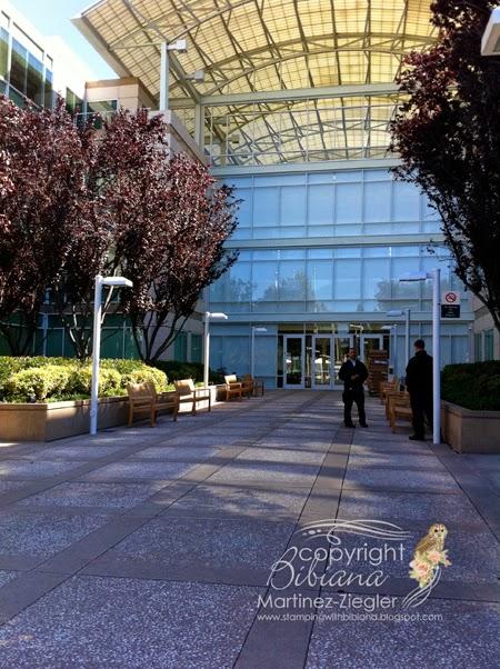 Apple headquarters entrance