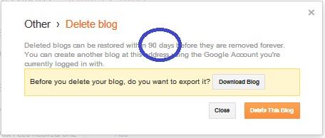 Cara Menghapus atau Delete Blog