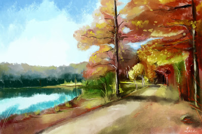 dessin lace automne