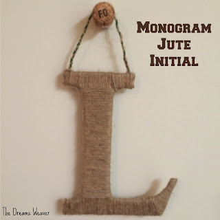 Monogram Jute Initial~  The Dreams Weaver