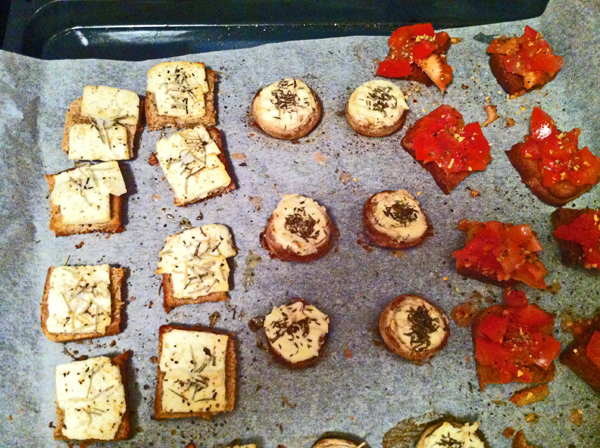 a vegetarian party snack idea