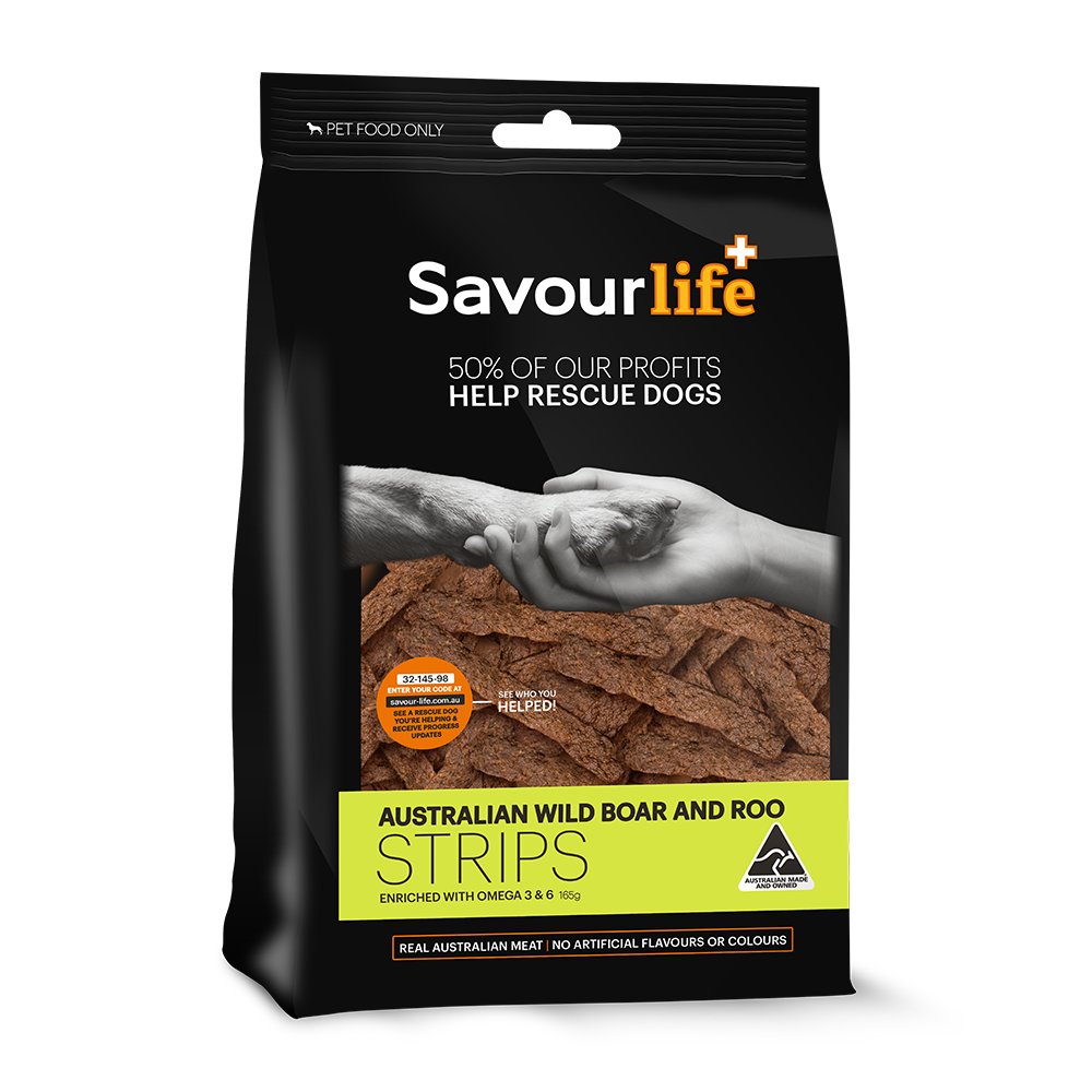 Savour-Life-Wild-boar-roo-strips-dog-treats