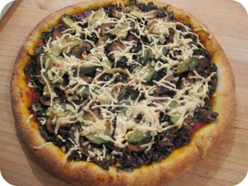 Tahini Kale Pizza Is Tasty!