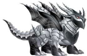 imagen del dragon metal doble de dragon city