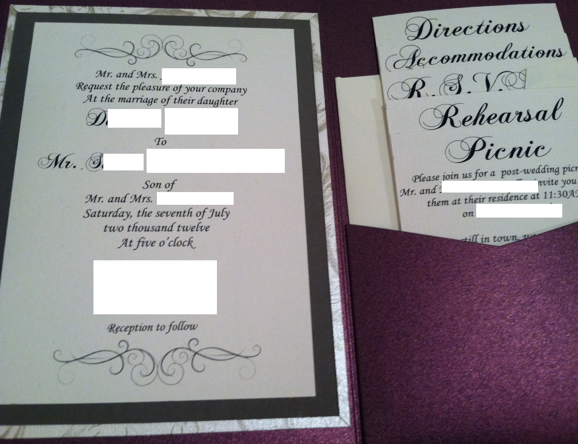 The Bear Necessities Wedding Wednesday Diy Invitations After Finishing My Test I Realized That Ivory