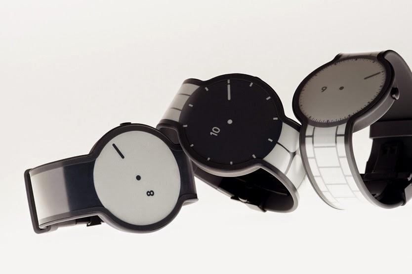 FES Watch ساعة ذكية من سوني مصنوعة من الورق والحبر الإلكتروني