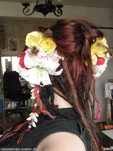 fleur en feutrine
