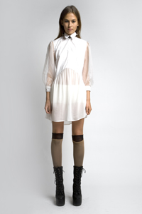 White Club Dress on Stolen Girlfriends Club  White Puff Daddy  Shirt Dress    295  I Would