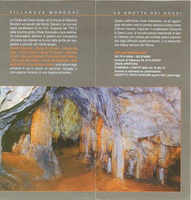La Grotta dei Dossi Brochure