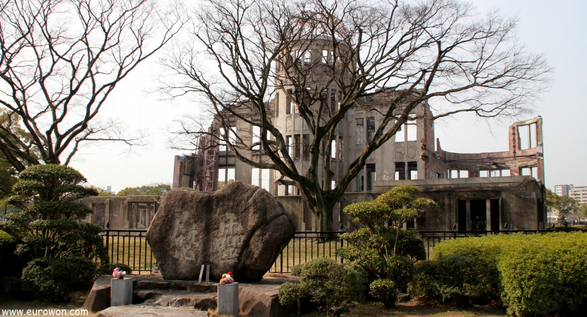 Cúpula Genbaku de Hiroshima en invierno