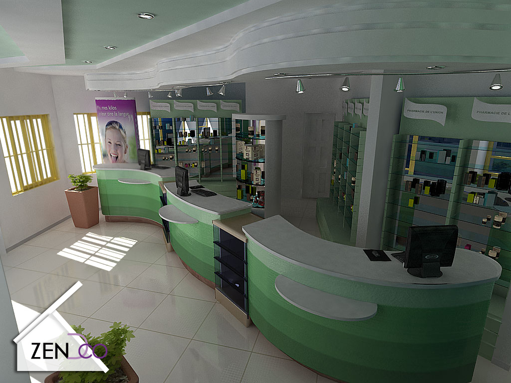 Zendeco Pharmacie De L 39 Union Proposition D 39 Amenagement 3d