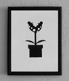 Piranha plant from Mario Brothers - Cutting Pixels papercut