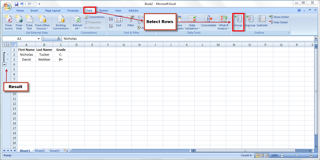 Excel Spreadsheets Help: How to create collapsible rows in Excel