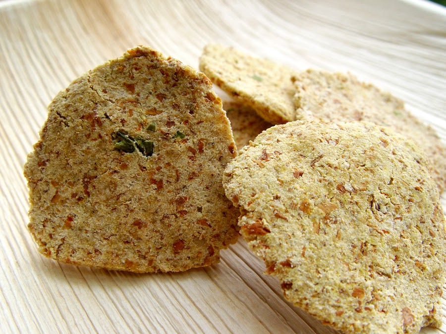 Raw Almond Pulp Vadais (Crackers)