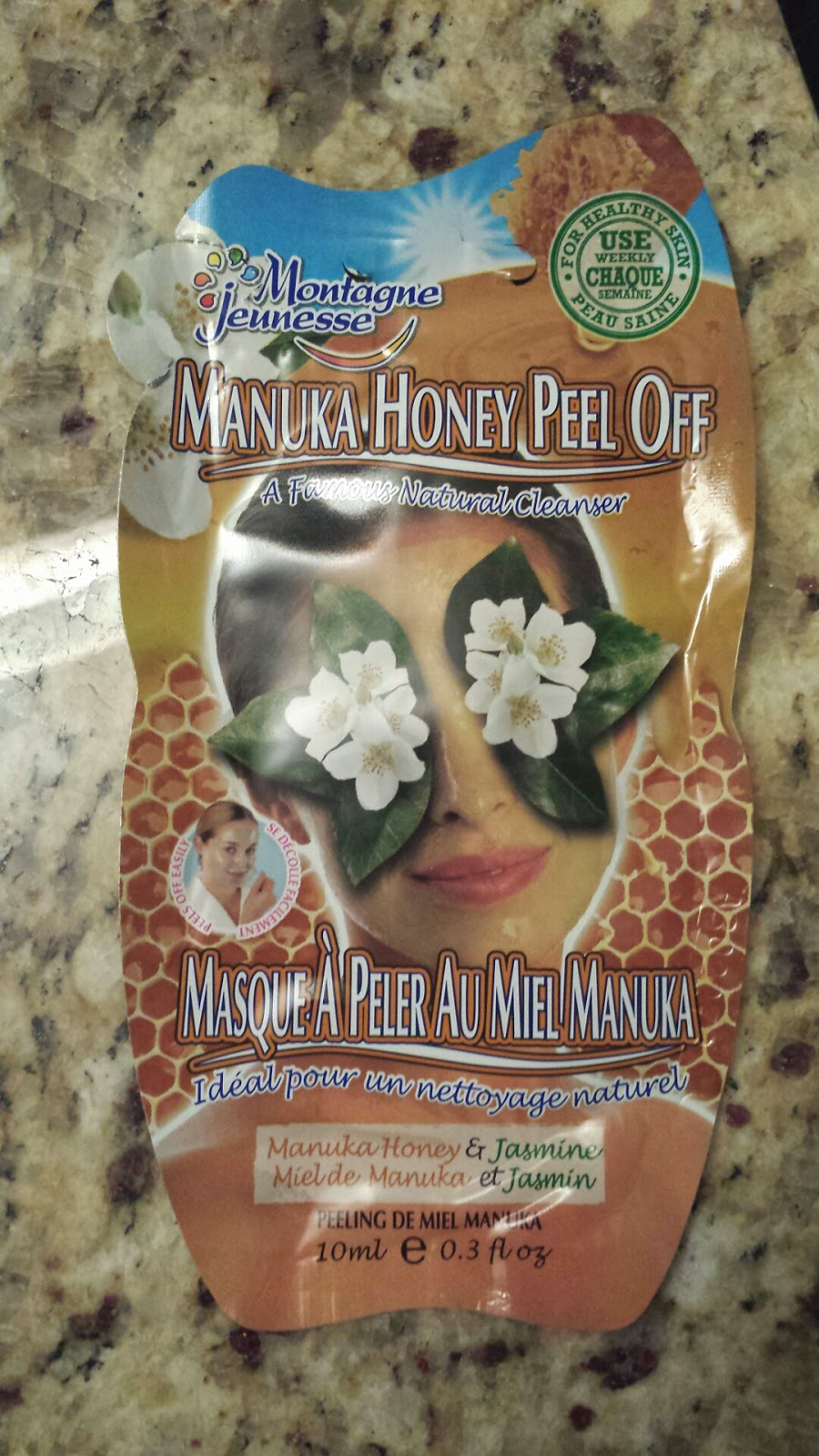 Just J: Canadian Beauty Bloggers review the Montagne Jeunesse Manuka Honey peel-off masque